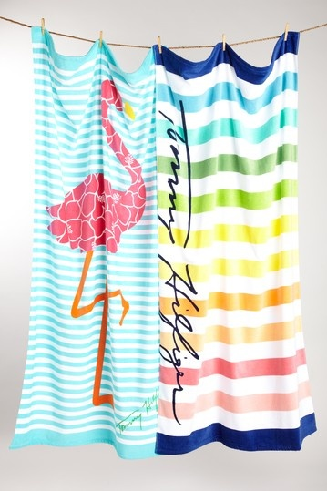 Love these Tommy Hilfiger Beach Towels - On sale at HauteLook.com for $39.99 for the set of 2 (regularly $80)