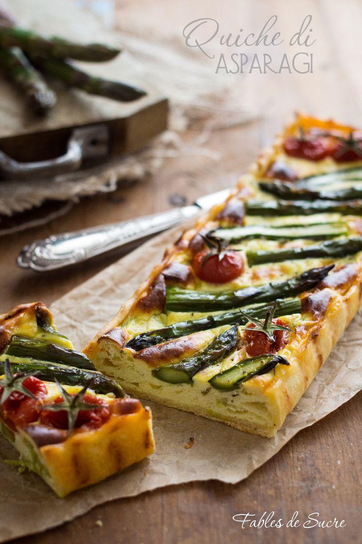 Quiche di asparagi con pasta brisé: un equilibrio di sapori. Questa volta agli asparagi, ma nulla vieta di farla con tutte le verdure che vi piacciono.