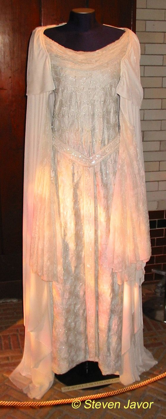 One of a few breathtaking gowns worn by Cate Blanchette as Galadriel, Lady of Light in the Lord of the Rings trilogy.