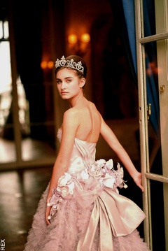 Lauren Bush, at the Crillon Ball in 2000, wearing a vintage Christian Dior ball gown