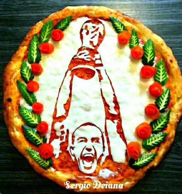Fabio Cannavaro Italy World champion 2006 pizza art by Sergio Deiana
