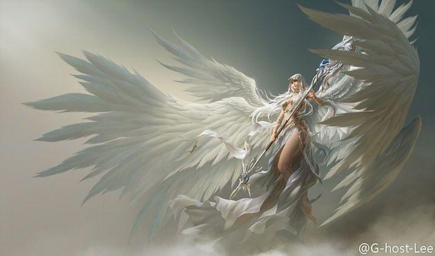 A Razão da Queda | meusite Ouve-se um estrondo, um vento forte que faz voar a todos os cavaleiros.  E aparece uma imensa mão trazendo Liliel na palma, já com suas asas recuperadas.