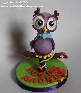 Le Delizie di Ve: Owl cake topper