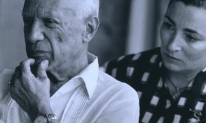 Spanish artist, Picasso and his wife, Jacqueline. <3