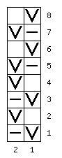 схема узора 856