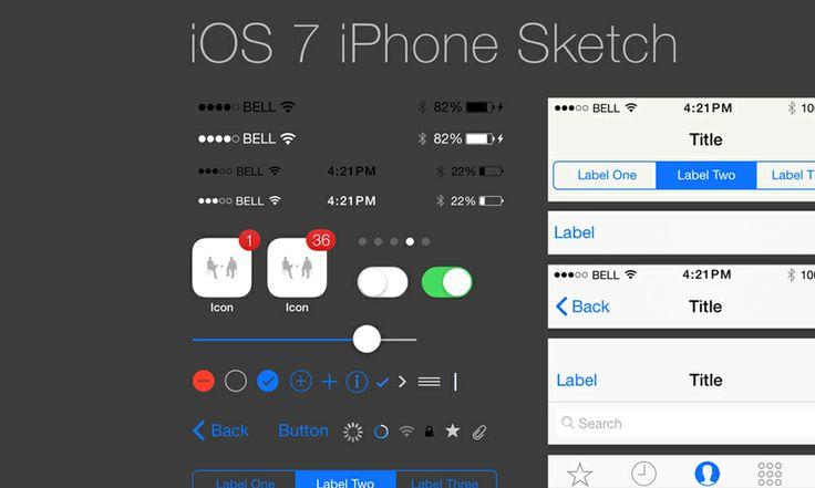 iPhone GUI for Sketch (iOS7) | Teehan+Lax #kit