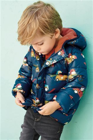 The padded jacket for the little guys who love cars - he DEFFO approves!