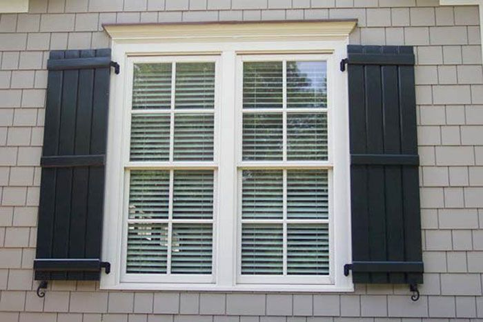 17 best ideas about exterior shutters on pinterest shutters shutter colors and window shutters for Exterior window weather protection