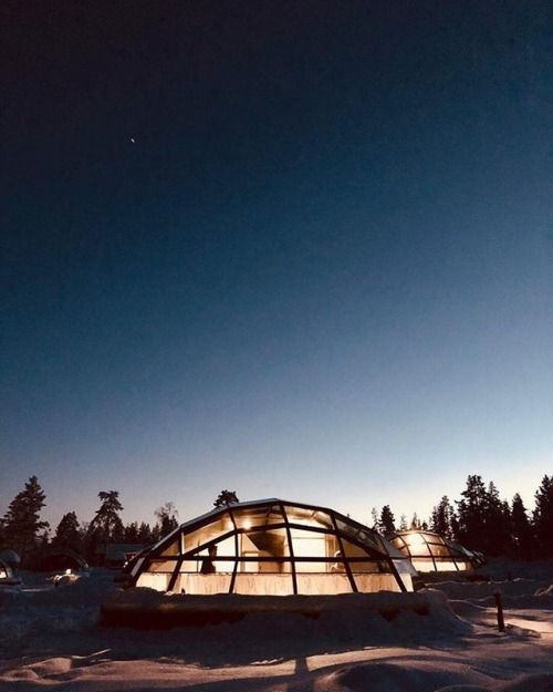 See the Northern Lights in bed from your glass igloo at...