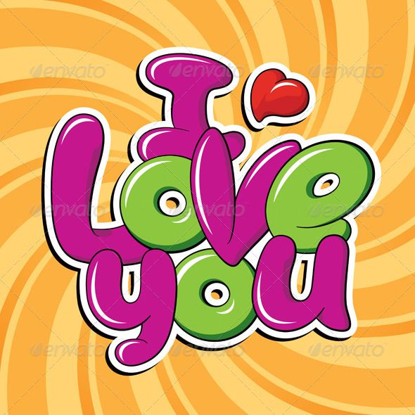 Download I Love You | Graffiti alphabet, Graffiti lettering, Vector ...