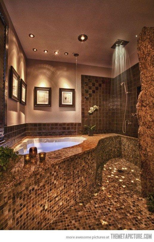 I Wish!!!!: Bathroom Design, Open Shower, Masterbath, Awesome Bathroom, Dreams House, Dreams Bathroom, Bathroomdesign, Amazing Bathroom, Master Bath