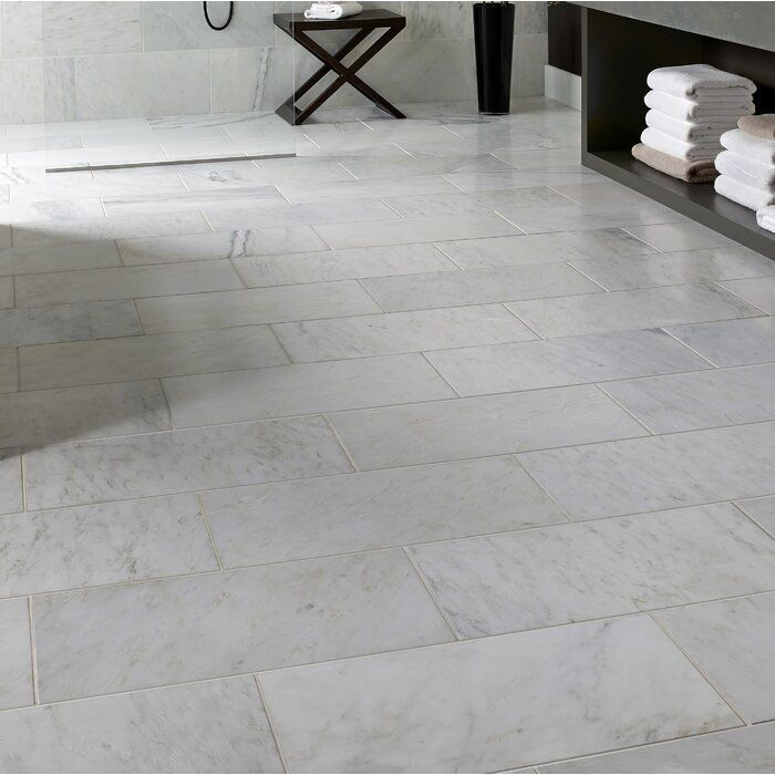 Msi Carrara 12 X 24 Marble Look Wall Floor Tile Wayfair In 2020 Tile Floor Flooring Marble Look Tile