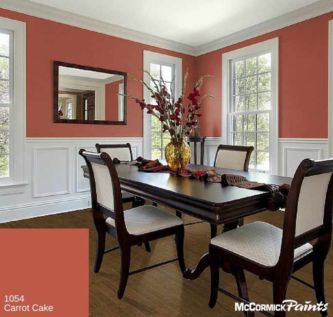 With A Name Like Carrot Cake Its Hard To Resist This Spicy Fall 2015 PaintColor Especially In The DiningRoom