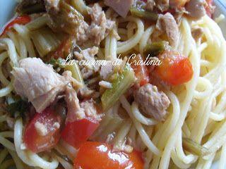Spaghetti cicoria e tonno - Spaghetti cicoare si ton