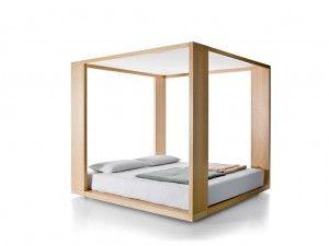 Il letto a baldacchino Le Temple Cinova è un letto sostenibile ed ecologico, realizzato completamente con materiali naturali e quindi anche riciclabili.
