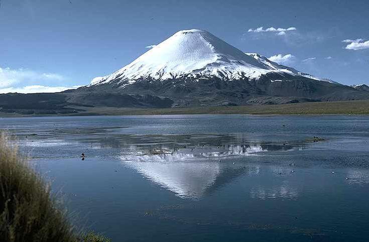 Lago Chungara   A 4570 metros de altura sobre el nivel del Mar