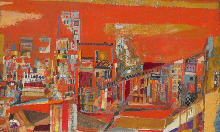 "Maria Helena Vieira da Silva (1908-1992) ""La Ville rouge"" (1937, huile sur…"
