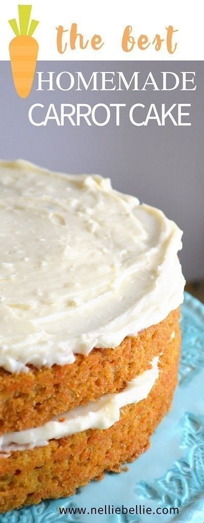 This is the BEST carrot cake recipe out there. Easy, classic, and delicious. Just like Grandma's! You will never look for another one again!
