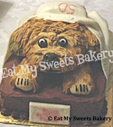 Specialty Cake- 3-D Yorkie Birthday Cake