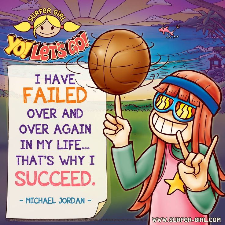 Hi Girls ^^ Don't be afraid of failures :) Because we can learn and grow, so that eventually we can really succeed! :) Don't give up easily and just go for it!! ^^ Love, Summer <3 #surfergirl #positivedifference #motivationalquote