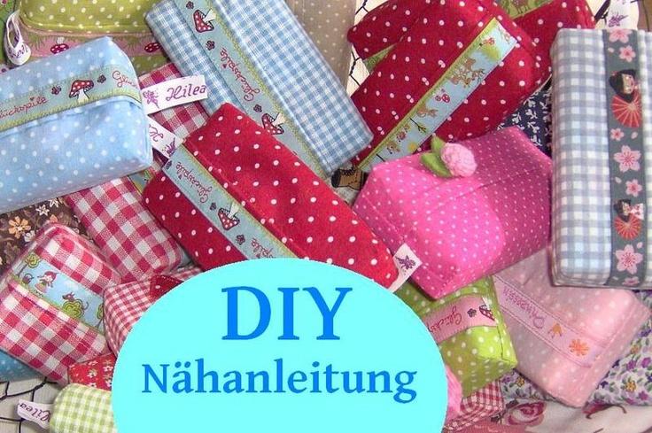 Taschentüchertaschen einfach und leicht selber nähen. Hier findest du eine genaue Schritt für Schritt Anleitung mit vielen Bildern. Nähanfän...