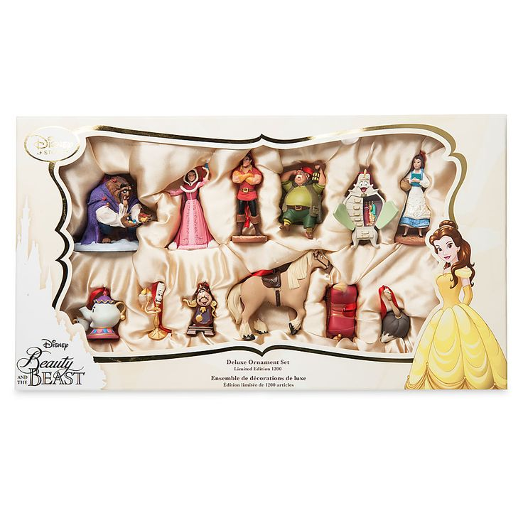Beauty and the Beast Deluxe Sketchbook ornament set from Disney Store