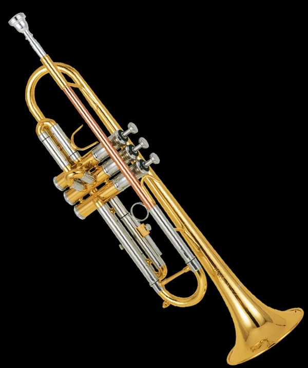 trumpet, doesn't matter if it's new, or dented... it only matters how much you practice.