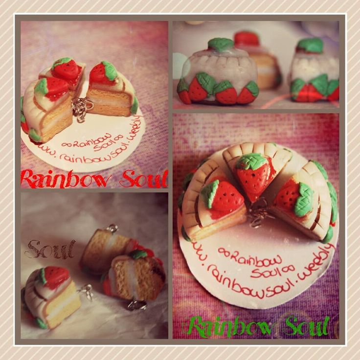 Ciondolini fette di torta panna e fragola *