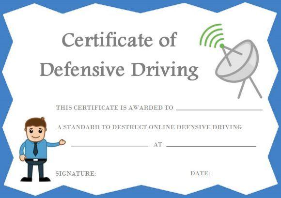 Defensive Driving Certificate Online Printable