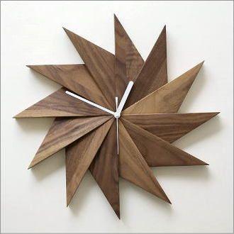 hakusan | Rakuten Global Market: Wall watch clock Walnut natural ...