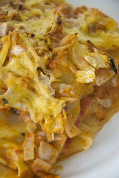 Lasagne van spitskool en salami