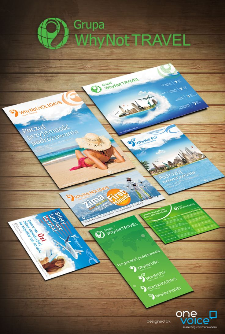 Why Not Travel - promotional materials design
