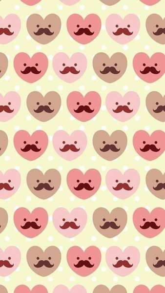 Colorful Mustache Wallpapers Wallpaper
