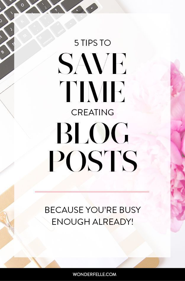 5 tips to save time creating blog posts - because being busy isn't an excuse! Learn how batching + other strategies can make blogging easier.