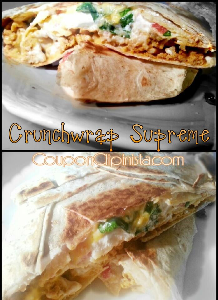 TACO BELL CrunchWrap Supreme Copy Cat Recipe  <--only healthier!