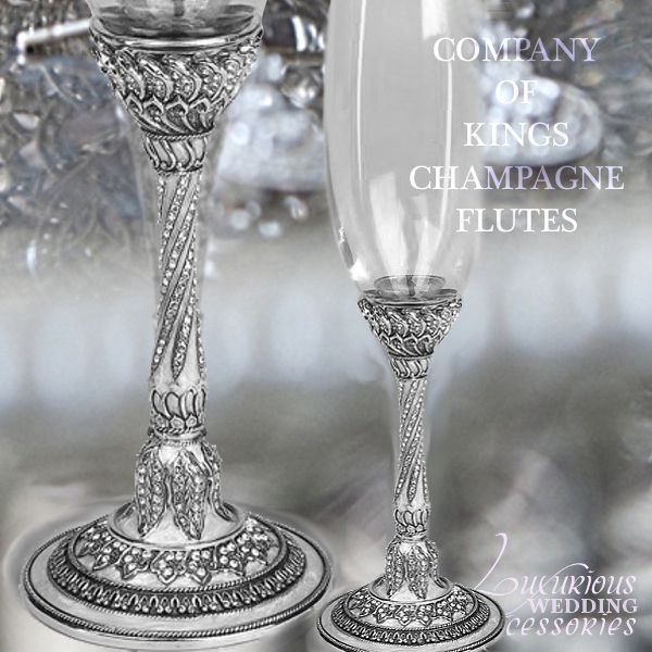 17 Best Images About Wedding Flutes And Serving Sets On