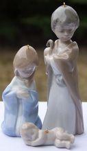 Lladro 5657G Mini Holy Family Creche Nativity Set of Figurine Ornaments 1989