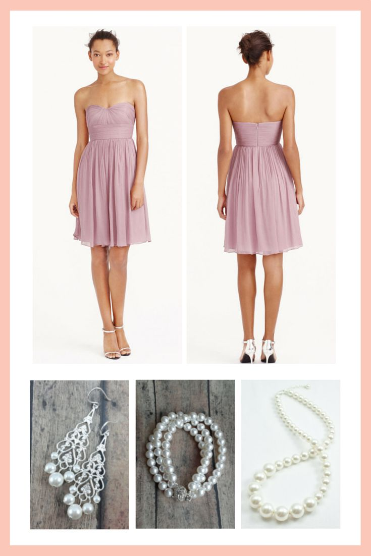15 best short bridesmaid dresses images on pinterest short what jewelry goes with my bridesmaid dress ombrellifo Choice Image