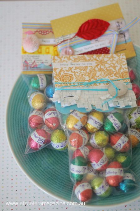 A project by Kim Archer for our Easter With The Jot Girls blog series! Super easy chocolate eggs gift packs!