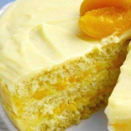 Torta de Pêssego - #Receitas #Culinaria #Sobremesas