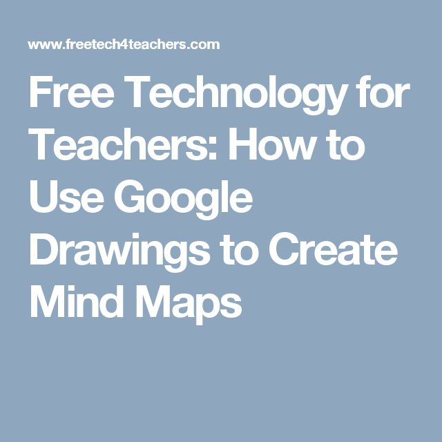 free technology for teachers how to use google drawings to create mind maps - Create Mind Map Free