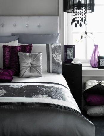 116 best images about aubergine purple decor on pinterest for Deep purple bedroom ideas