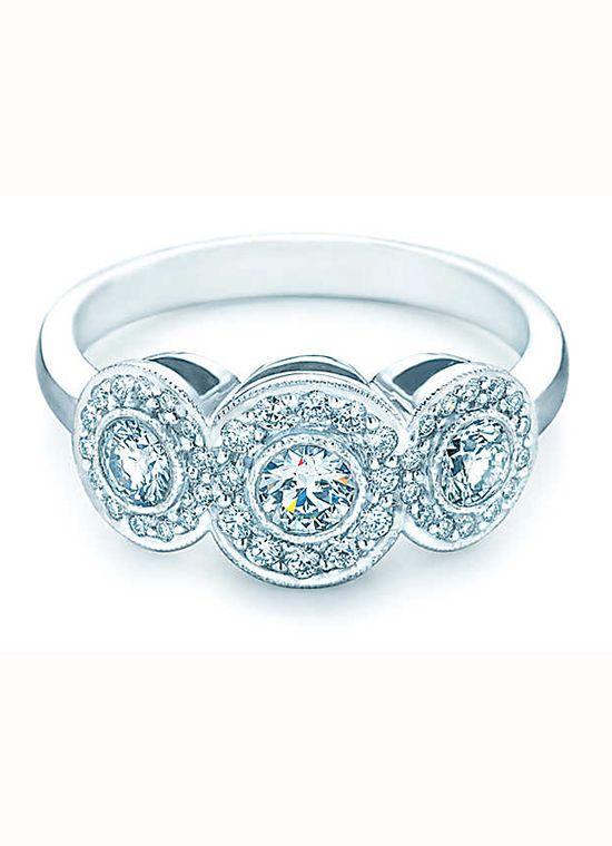 Tiffany Amp Co Three Stone Circlet Diamond Engagement