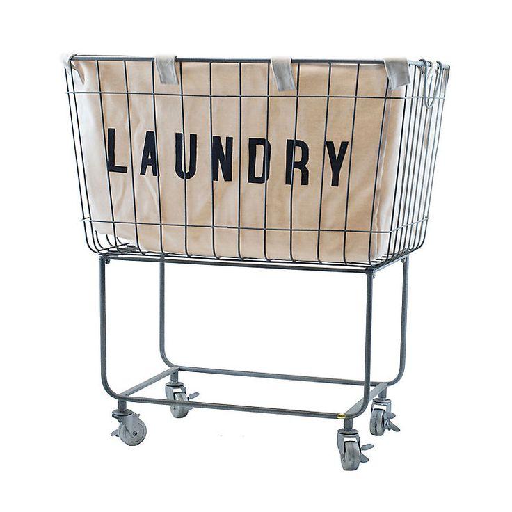 Rolling Metal Laundry Basket   Kirklands