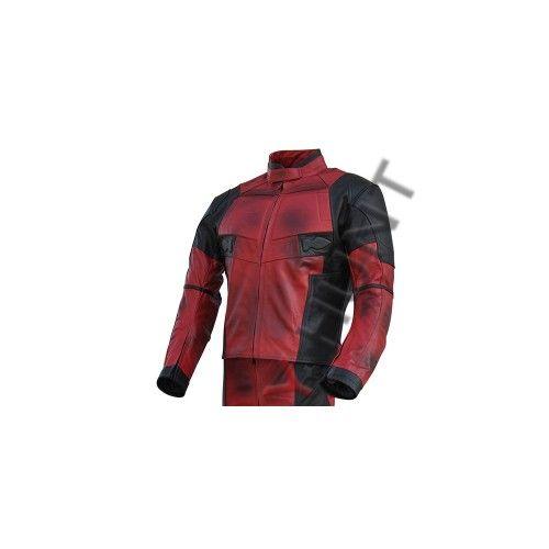 66093b5fb Ryan Reynolds DeadPool 2 Movie Motorcycle Leather Jacket / Dead Pool ...