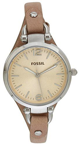Fossil Women ES2830 Georgia Stainless Steel Watch with Leather Band Fossil http://smile.amazon.com/dp/B004NBZ5KM/ref=cm_sw_r_pi_dp_Mmffvb16RFM1V