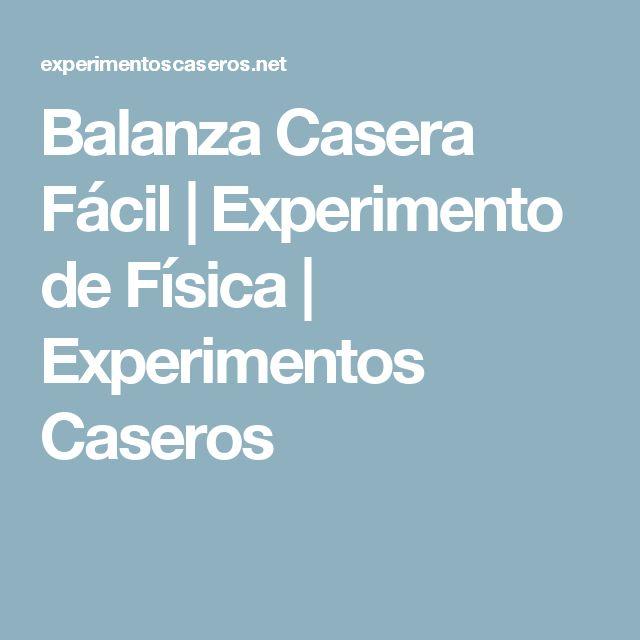 Balanza Casera Fácil | Experimento de Física | Experimentos Caseros