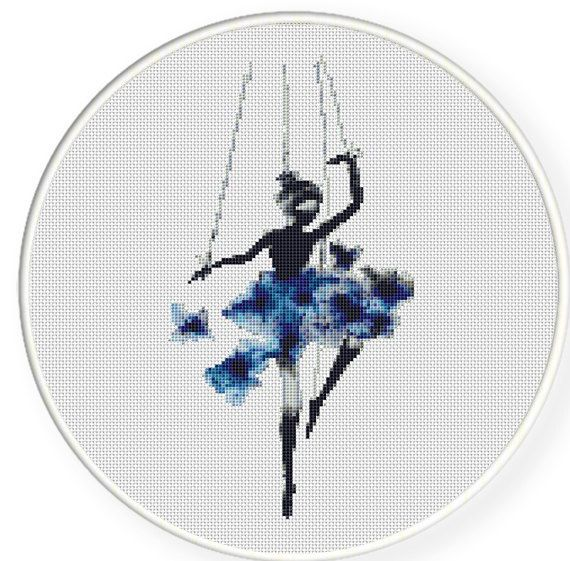 MORE for FREE Ballet in Blue Counted by CrossStitchPassions