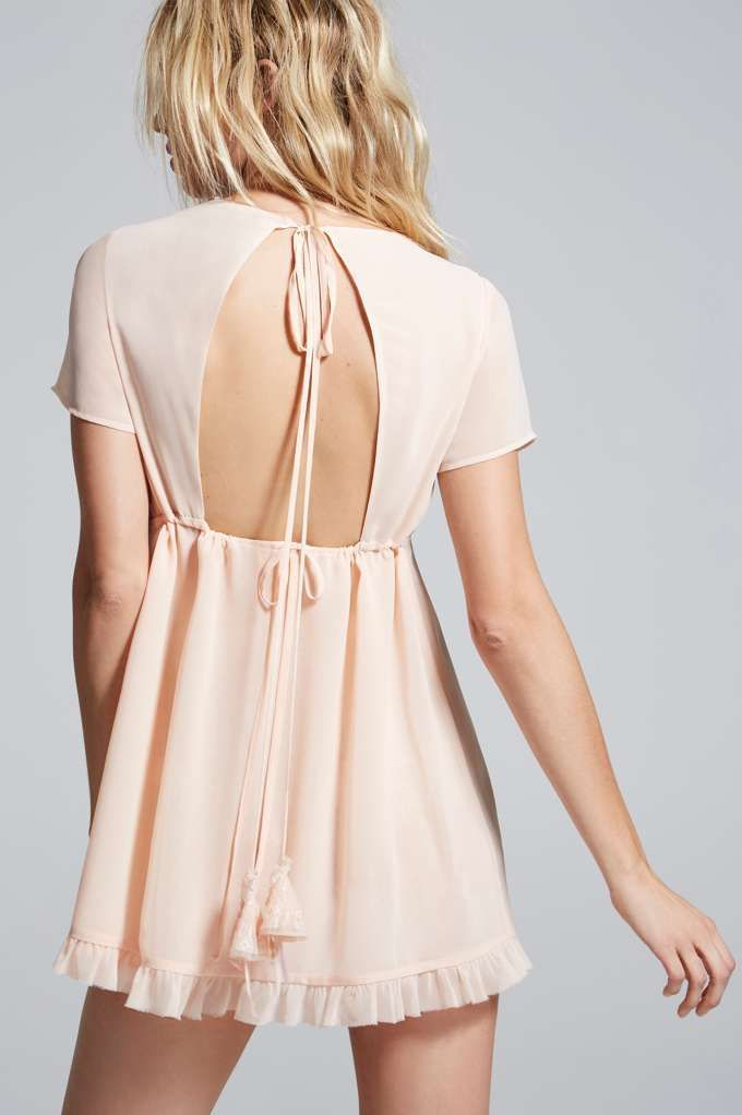 Love, Courtney by Nasty Gal Best Sunday Dress Sheer Babydoll - Clothes | Day | Fit-n-Flare | Solid | Lingerie Accessories | Lingerie