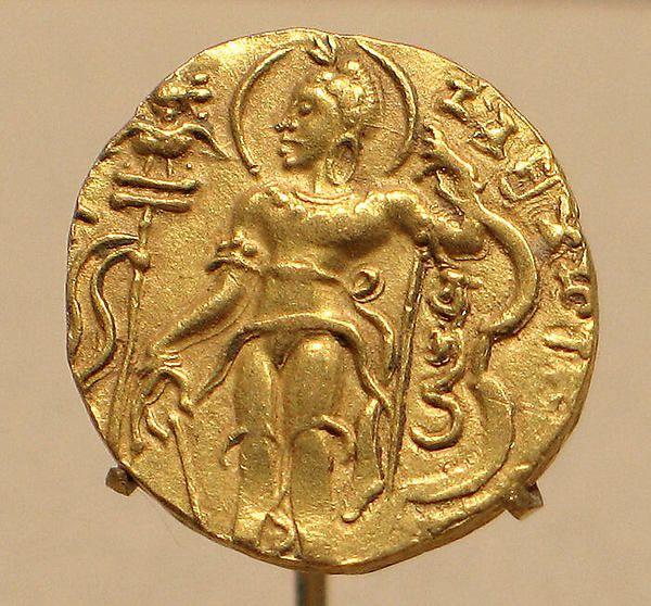Gold coin showing King Chandragupta II as an ArcherIndia, c. 376–414 (Gupta period) | Metropolitan Museum of Art